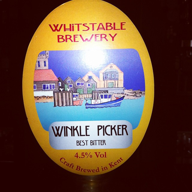 Here's my staff pick for today! Not only is it a great beer it's also got an awesome name! Introducing Whitstable's Winkle Pickle! 4.5% best bitter!