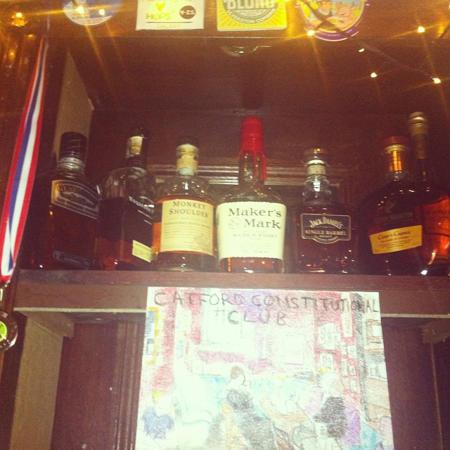 Got a lovely selection of whiskey, bourbon and brandy! More options on the other side of the bar too! But you'll have to pop in to find out what they are ;) xoxo