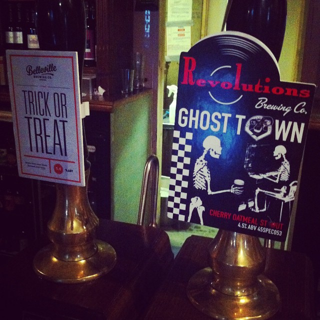 A Nightmare on Elm Street will be hosting 2 wonderful beers especially for All Hallows'! Belleville brewing co's #trick #or #treat #pumpkin #ale & Revolutions #ghostown #cherry #oatmeal #stout! Open from 4pm this afternoon!
