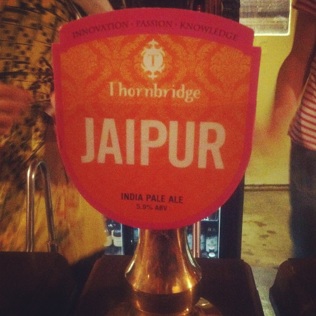 Oh no ! Our staff pick for earlier has finished already! New staff pick is the amazingly popular and wonderful IPA #thornbridge #jaipur #spicy #india #pale #ale